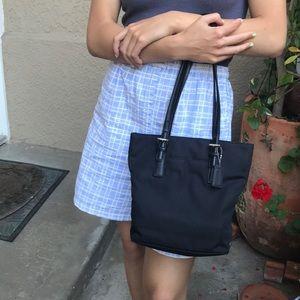 Vintage black Coach leather/vinyl purse